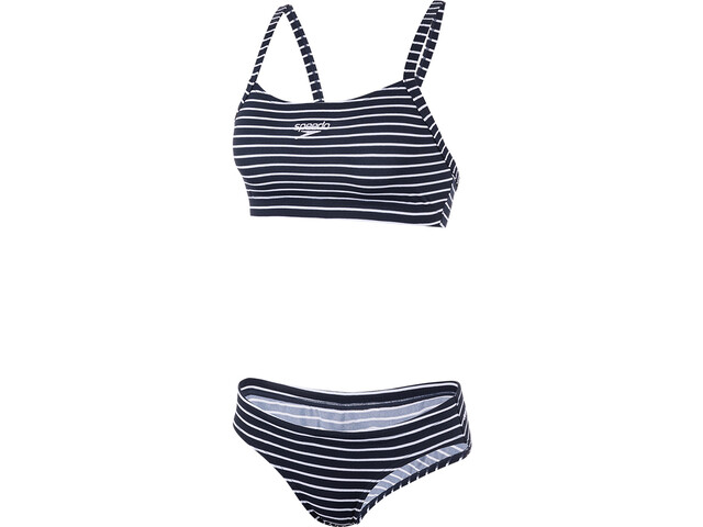 speedo Endurance+ Printed Thinstrap Bikini Dames, blauw/wit